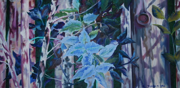 2011 Eucalyptus Leaves 24 by 48