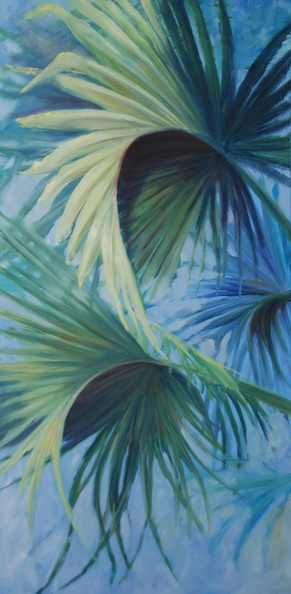 2013 Palm Study 24 by 48  sold