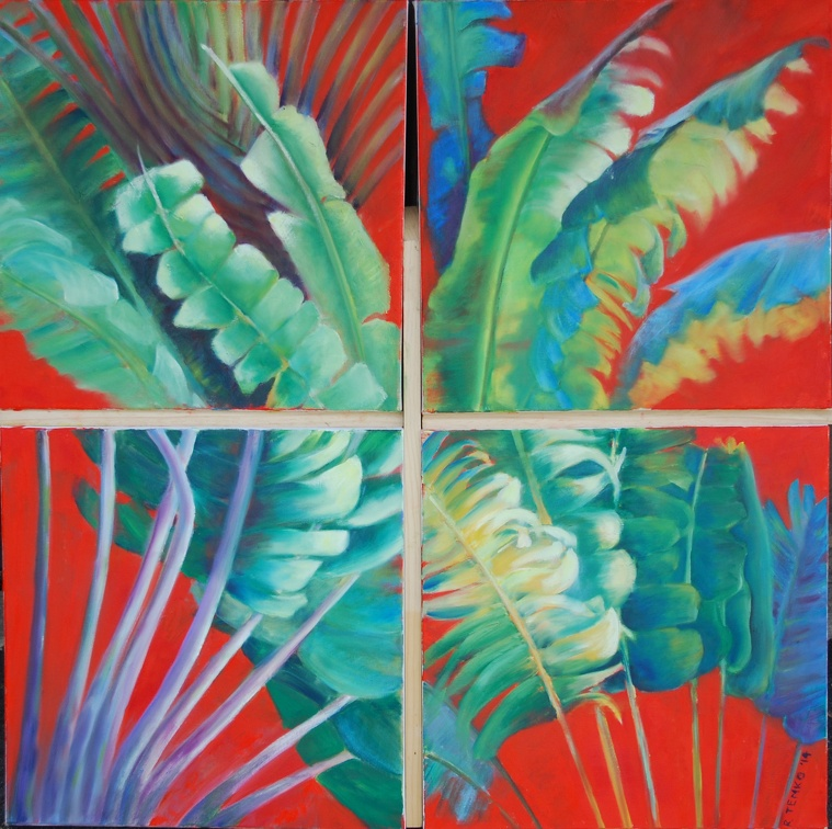 2014 Traveling Palm Series each 18 x 18